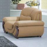 Sofa de cuir de meubles d'entrée d'hôtel de prix de gros d'usine (C18)