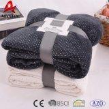 Декоративное горячее штемпелюя одеяло ватки обыкновенного толком цвета Coral