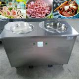 Ce aprobado alrededor de la máquina del helado de la fritada de la cacerola y del fabricante de helado planos