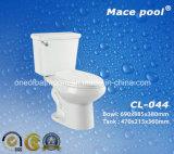 Toilettes en deux pièces en céramique de cabinet d'aisance avec la courroie (CL-044)