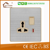 Socket 1gang y 13A del socket del interruptor de la pared de Bangladesh