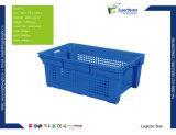 Caisse compressible en plastique de rotation commode
