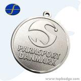 Il premio personalizzato mette in mostra la medaglia del metallo con la placcatura antica dell'argento dell'oro