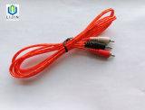 3.5mm Stereo-installatie aan Kabel 2male RCA met Folie Alu