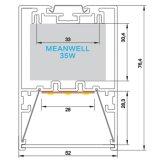 Caisson suspendu extérieur de l'agrégation raccordables Highbay haute baie encastrée LED lumière linéaire