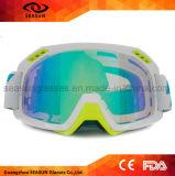 Anti lunettes UV de ski de motocross de lentille d'enduit de bâti à la mode de TPU