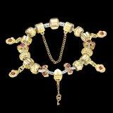 方法火葬の宝石類DIYの金のガラス玉の女性のブレスレット