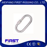 Прямой щелчковый крюк с винтом/электрическим гальванизировать/нержавеющей сталью AISI 304&316