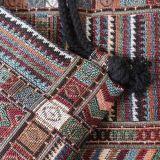 La mujer moda étnica Gymsack lienzo de algodón Bolsa Drawstring