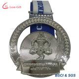 Médaille d'argent en alliage de zinc pour la manifestation sportive