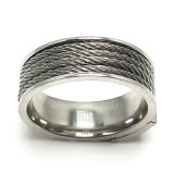 Gran cantidad de joyas de moda Hombre anillo de acero inoxidable
