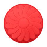 Material de calidad alimentaria certificado FDA Torta de molde de silicona, Molde de pastel de silicona con forma de crisantemo/Molde de budín
