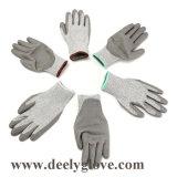 Hellorangee Sicherheits-Handschuhe der PU-Palme beschichtete Schnitt-Stufen-3
