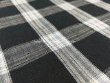 Tela teñida de la gata de la verificación del hilo de algodón para Shirt-Lz6265