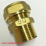 Guarnición de cobre amarillo de la compresión del NPT del acoplador recto al por mayor de la cuerda de rosca
