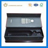 Rectángulo de empaquetado del vino de lujo de alta calidad de encargo para el empaquetado de la botella de vino (caja de embalaje del vino)