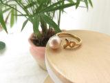 Ring van de Parel van de Juwelen van de manier de Gouden Roze voor de Gift van de Dag van de Valentijnskaart