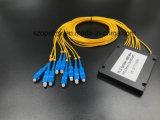 Оптоволоконный кабель Gpon телекоммуникационных 1X8 пластиковые окна PLC разветвителя с разъемом