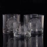 Bestes verkaufenkerze-Glas mit Abziehbild-Drucken-Firmenzeichen