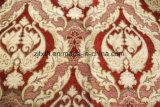 Tela luxuosa por atacado da cortina do sofá de Upholstery do Chenille do jacquard do projeto da flor