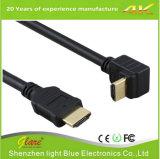 고속 정각 90 정도 HDMI 케이블