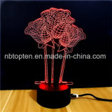 El amor Corazón Noche de Luz LED 3D Las lámparas de aromaterapia