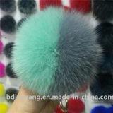 Sfera Pendant Keychain della pelliccia dell'anello portachiavi di turbine di neve della sfera pelosa
