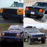 Faro rettangolare di pollice 7X6 LED dell'occhio 45W 7 di angolo per la jeep Van