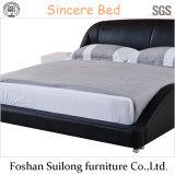 حديثة غرفة نوم أثاث لازم حقيقيّ جلد سرير