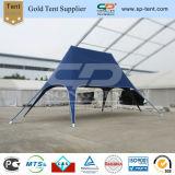 8X12m blaues doppeltes Höchststern-Form-Zelt für Messe