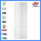 Puerta Bi-Fold superior redonda lisa compuesta blanca