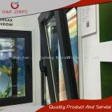 Perfil de metal Casement Tilt-Turn de aluminio y ventanas con doble vidrio