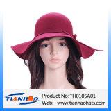 100% [فلت] صوف يوسع حاجة قبّعة لأنّ نساء مع لباد إنحناء