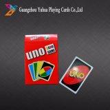 Uno van de douane Kaarten van het Spel van de Speelkaart van Kaarten de Volwassen