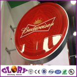 ライトボックスを広告する屋外の円形ビール表示アクリルLED