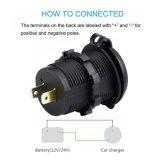 Doppel-USB-Aufladeeinheits-Kontaktbuchse-Energien-Anschluss 1A u. 2.1A