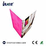O melhor preço personaliza o presente de aniversário/folheto video do cumprimento/folheto do casamento tela do LCD de 5 polegadas