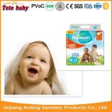 Couche-culotte mignonne de bébé de marque de Panpansoft de film de PE d'impression avec la marque de distributeur