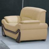 Mejor calidad de Muebles de Salón de ocio de cuero auténtico sofá (A006)