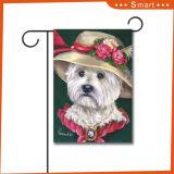 Bandierina su ordinazione decorativa esterna del giardino di stampa di volo della maschera del cane di marchio di prezzi poco costosi