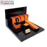 Compteur populaire présentoir acrylique noire pour regarder les anneaux de Collier bijoux&&