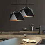 Iluminación casera de interior que cuelga la lámpara pendiente con aluminio