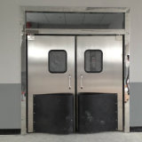 単一か二重葉の振動ドアの影響のトラフィックのドアのステンレス鋼のドア