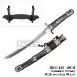 Preto japonês 40/50cm das espadas do Anime do samurai