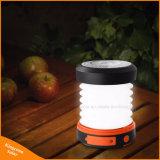 Lampada ricaricabile chiara di campeggio solare pieghevole della torcia della torcia elettrica della lanterna LED con il USB