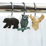 ami animali dell'acquazzone di disegno della resina 3D per la decorazione della stanza da bagno