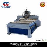 Único cortador de trabalho de madeira principal de alta velocidade do CNC