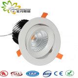 COB 60W à LED Downlight standard de l'approbation de l'ASA l'Australie, dirigé vers le bas de la lumière, spot LED lumière vers le bas