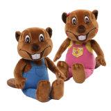 Luxuoso enchido do animal do brinquedo de Billy dos castores de Gund castor ocupado