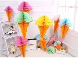 Bolas de Helado Honeycomb linternas de papel adornos de boda